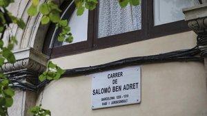 La nueva placa de Salomó Ben Adret.