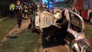 Accidente mortal registrado el pasado 2 de diciembre enMadrid.