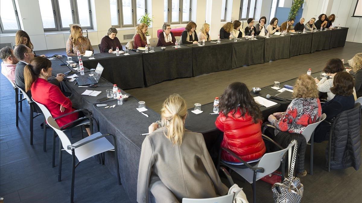 Encuentro de mujeres analistas de El Periódico.