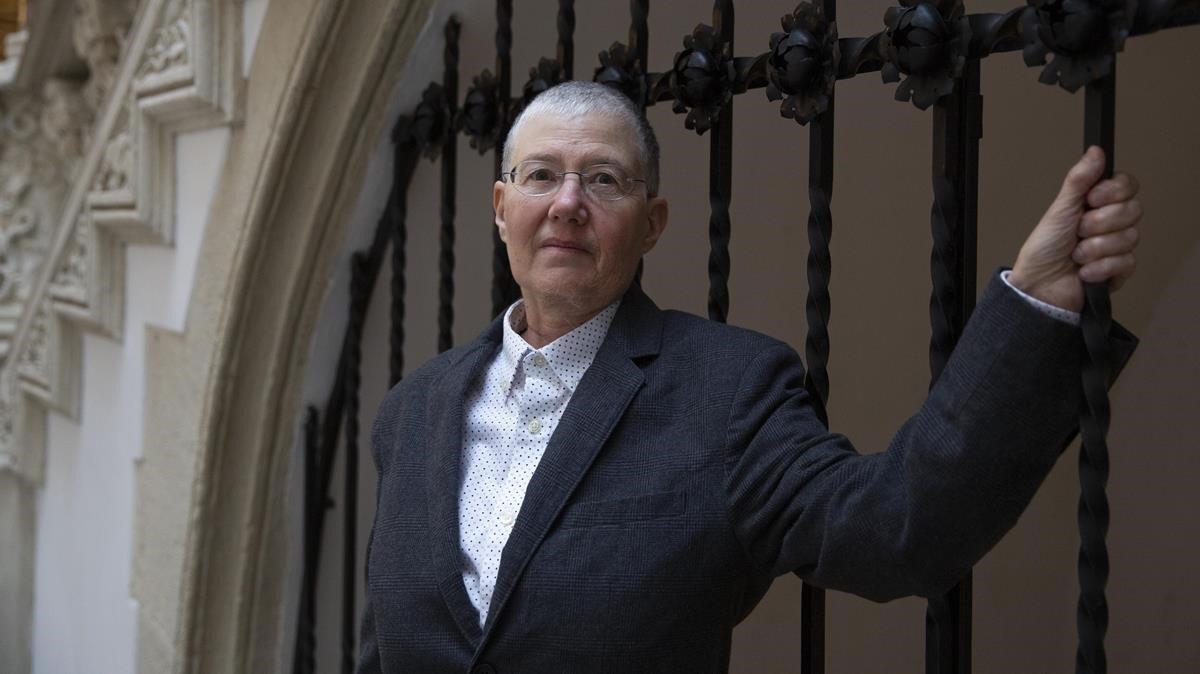 La activista Tina Minkowitz, en el Palau Macaya de la Obra Social La Caixa.