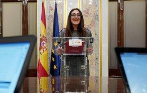 La candidata de IU Madrid a las elecciones autonómicas del 26 de mayo, Sol Sánchez