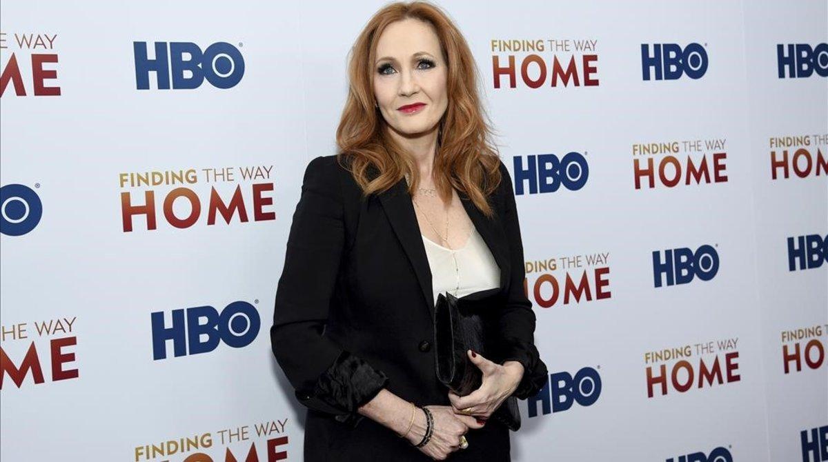 J.K. Rowling, en un acto en diciembre pasado, en Nueva York.