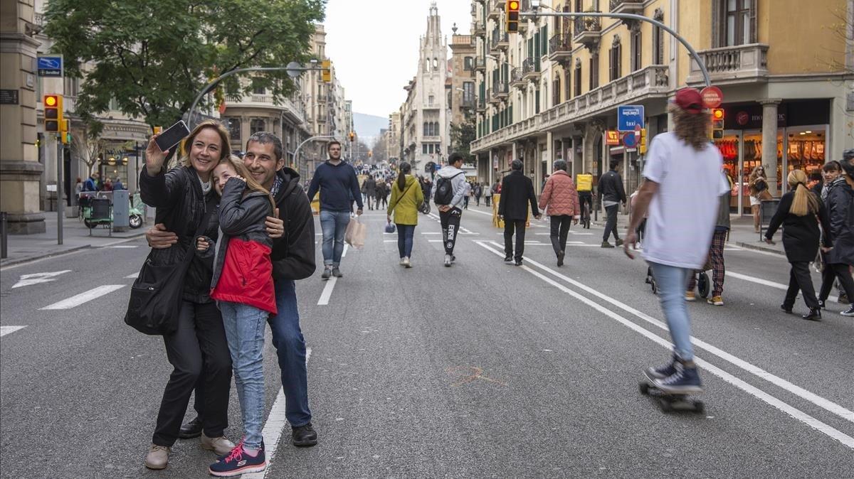 Barcelona el pasado 1 de febrero, cuando se inició el primer episodio de calor del mes.