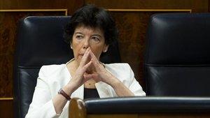La ministra de Educación, en el Congreso, el 17 de junio.