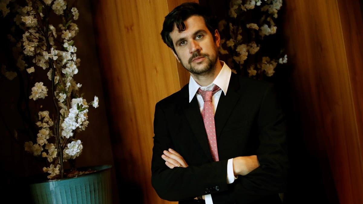 El filósofo barcelonés Pau Luque, ganador del premio Anagrama de ensayo, este martes.
