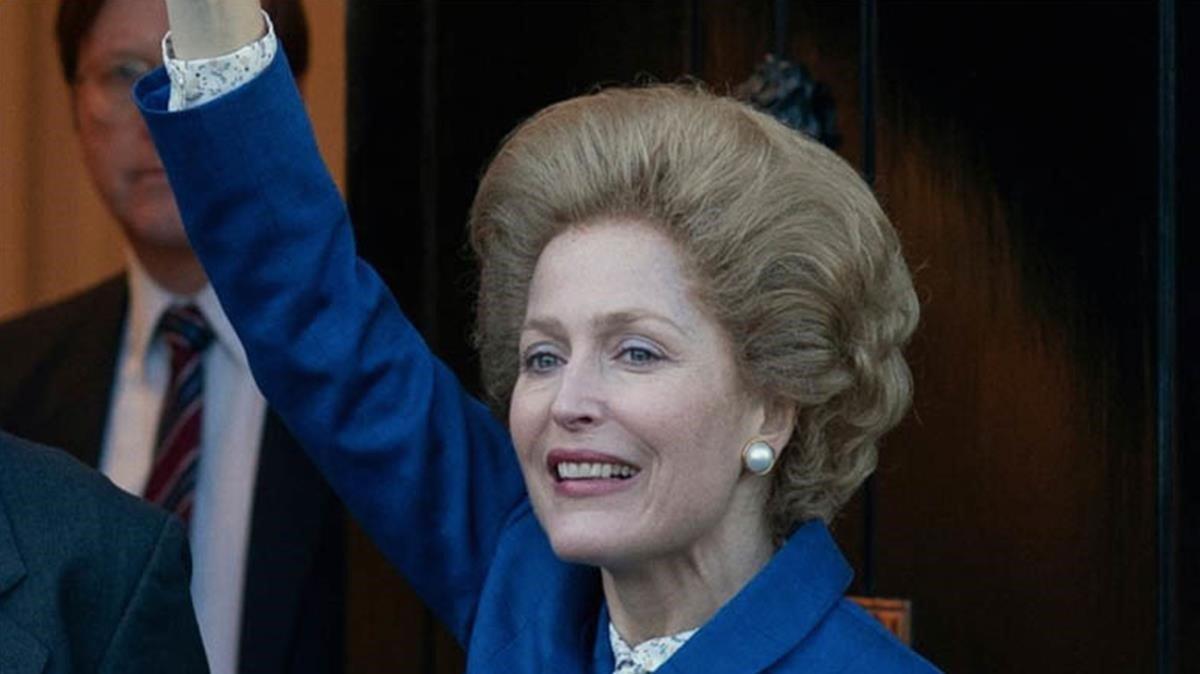 Gillian Anderson en el papel deMargaret Thatcher.