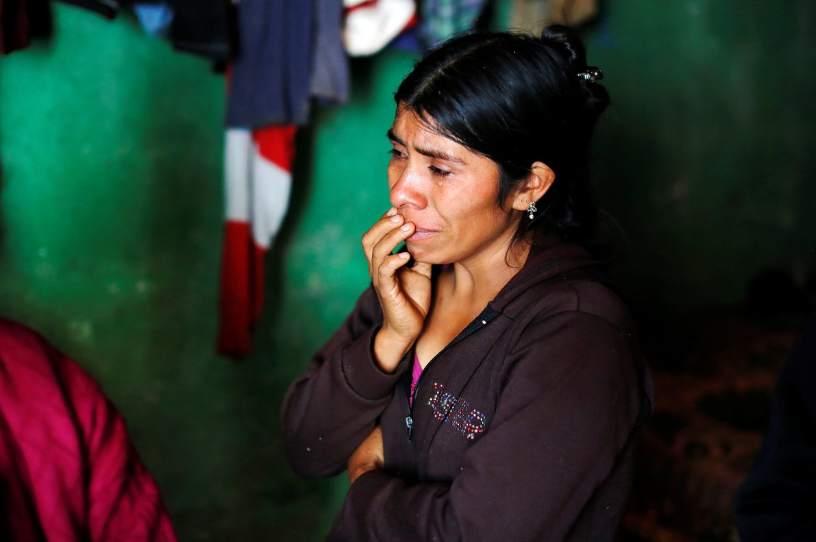 Catarina Alonzo, mother of Felipe Gomez Alonzo, a 8-year-old boy detained alongside his father for illegally entering the U.S., who fell ill and died in the custody of U.S. Customs and Border Protection (CBP), reacts at her home in the village of Yalambojoch, Guatemala.REUTERS/Luis Echeverria