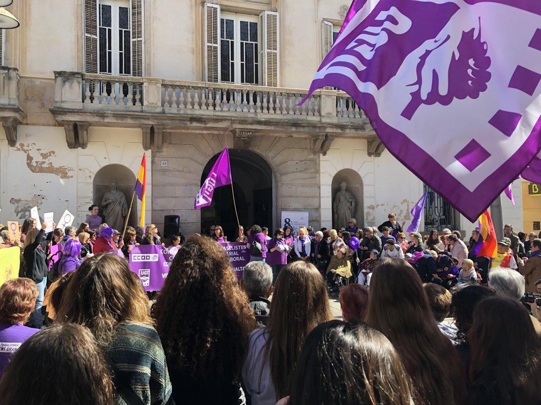 Manifestación feminista en Mataró.