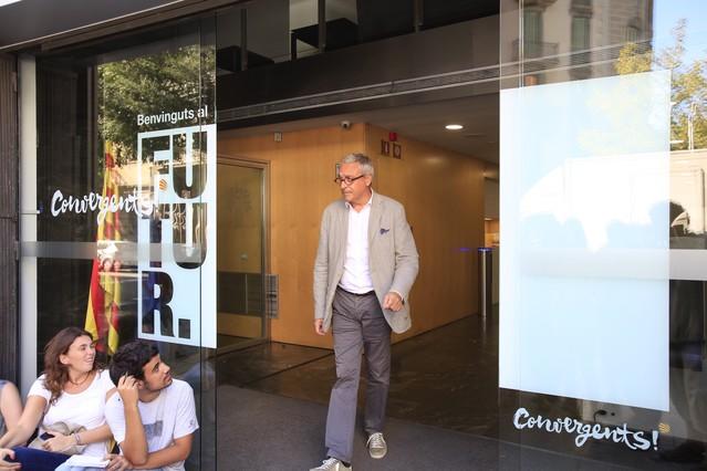 El abogado Xavier Melero a la salida de la sede de Convergencia.