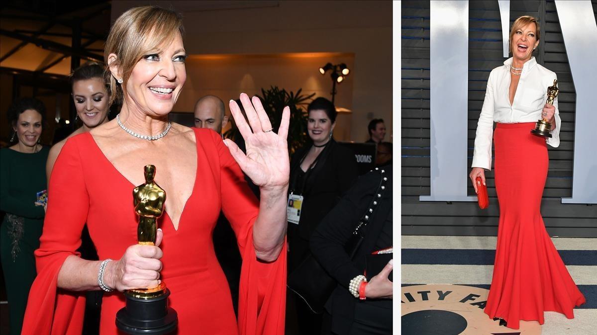 La actriz Allison Janney, este domingo, en la 90ª edición de los premios Oscar.