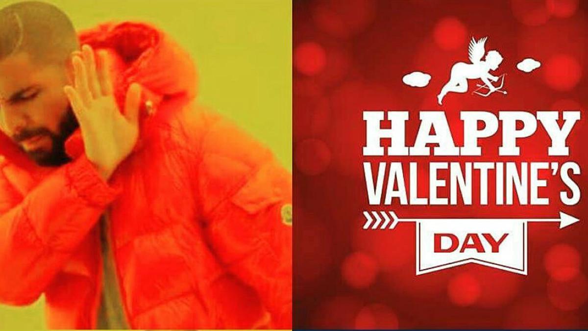 Uno de los memes que se ríe de San Valentín, dando a entender que, en ocasiones, el amor por la Champions es más fuerte que el que se siente por la pareja.