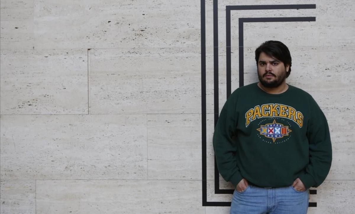 El actor BraysEfe, protagonista de la 'webserie''Paquita Salas', el sábado en Barcelona.