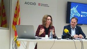 Àngels Chacón y Joan Romero.
