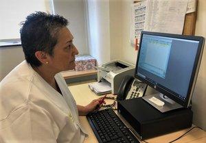 Charo Porron, la infermera gestora de casos post-covid-19 de la FHES de Santa Coloma.