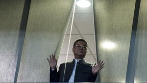Mr. Chen, presidente del Espanyol, en Cornellà.