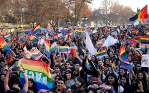 Marcha del Orgullo Gay en Chile.
