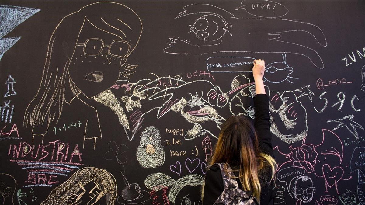 El gran mural de pizarra de la última edición del Graf.