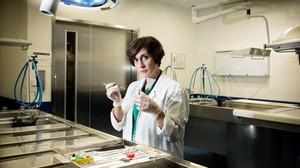 Clara Segura, en una de las salas de autopsias del Institut de Medicina Legal de Catalunya.