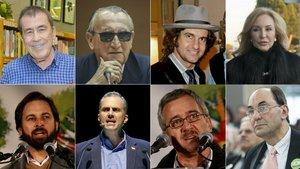 Fernando Sánchez Dragó, Carlos Fabra, Morante de la Puebla, Carmen Lomana, Santiago Abascal, Javier Ortega, José Antonio Ortega Lara y Alejo Vidal-Quadras