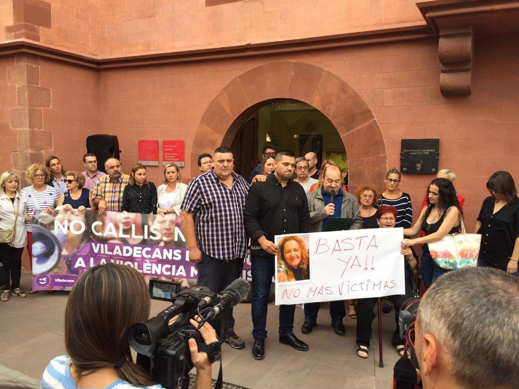 Concentración contra la violencia machista y en recuerdo de la viladecanense fallecida, este lunes en Viladecans