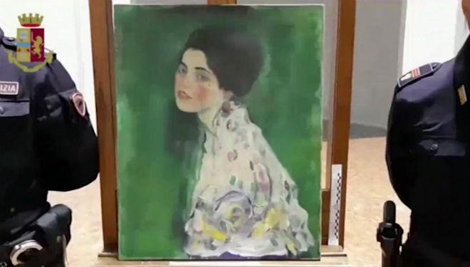 Cuadro Retrato de una dama de Gustav Klimt.