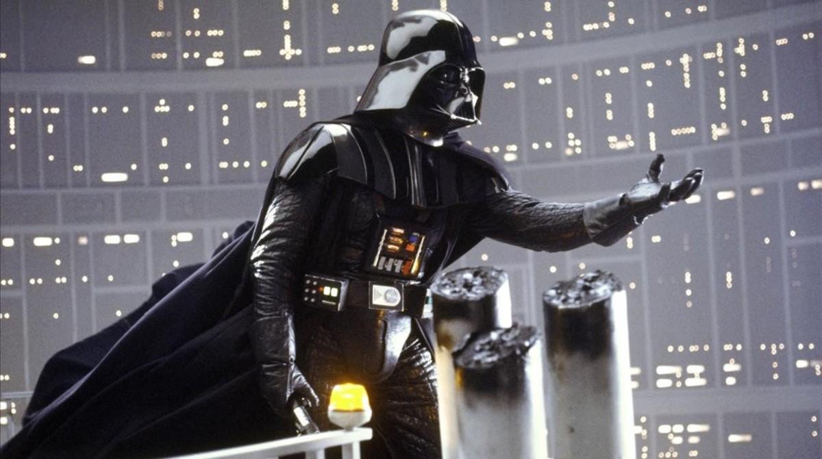 El personaje de Darth Vader, en la película Star Wars. El imperio contraataca.