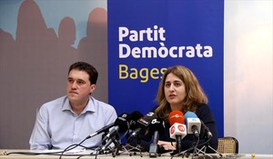 David Bonvehí y la coordinadora general del PDECat, Marta Pascal.