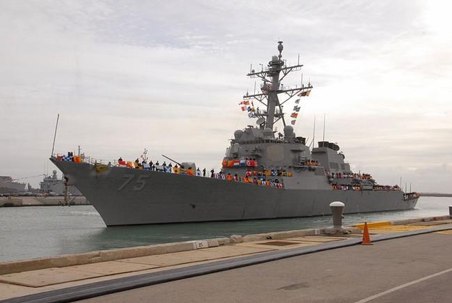 El destructor USS Donald Cook, con base en Rota.