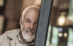 El director de cine británico Mike Leigh, en Barcelona.
