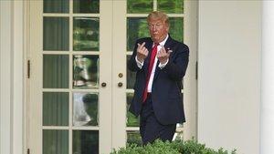 Donald Trump, este martes en la Casa Blanca.