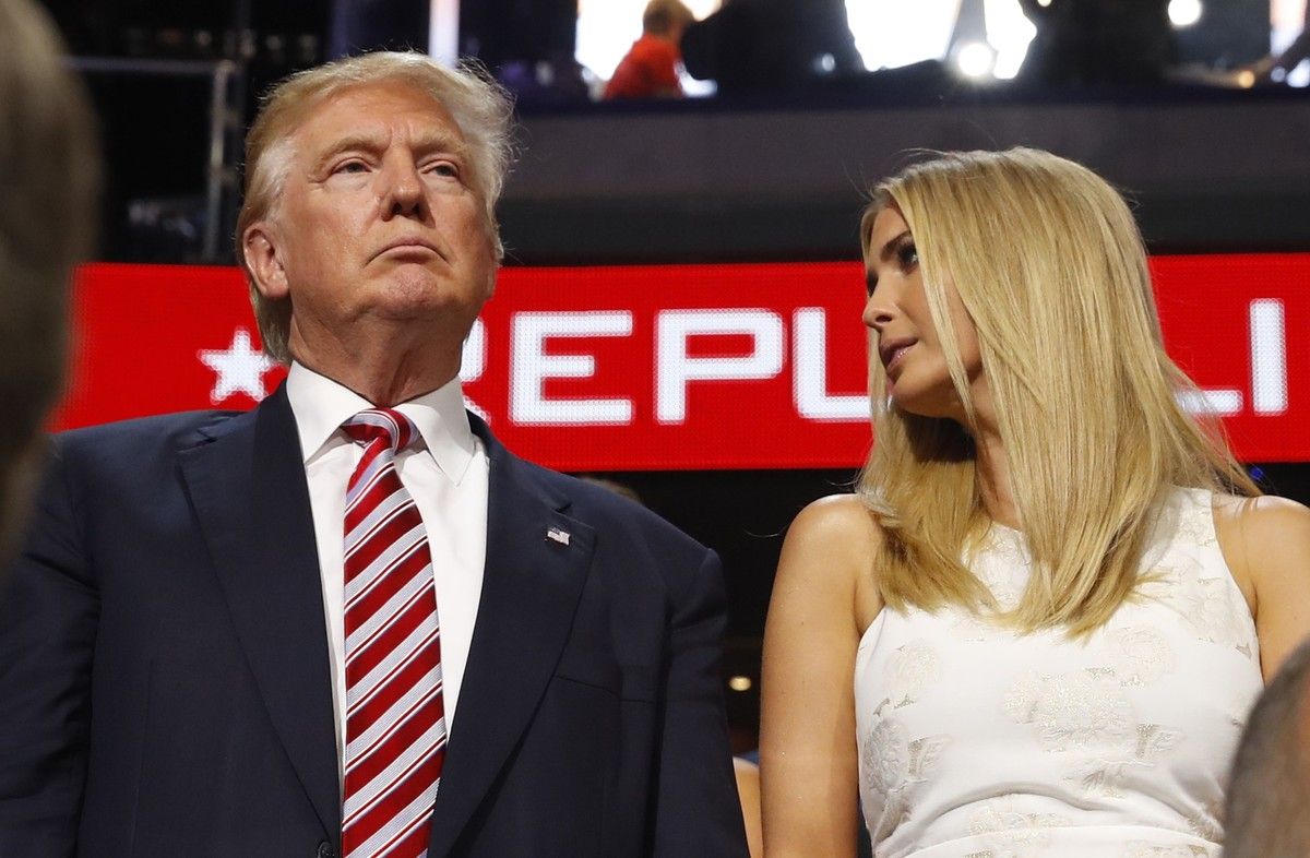 Donald Trumpjunto a su hija Ivanka