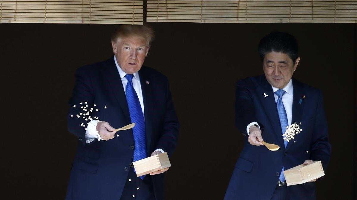 Donald Trump y Shinzo Abe, durante la visita que realizó el estadounidense a Japón en noviembre del 2017.
