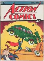 El ejemplar del número 1 del cómic de Superman, subastado en la casa Heritage Auctions.