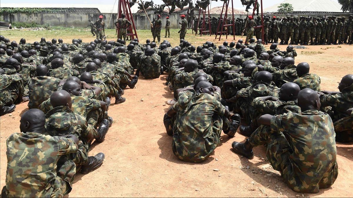 Entrenamiento del Ejército de Nigeria, en una foto de archivo