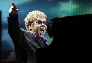 Una imagen de archivo del músico británico Elton John.