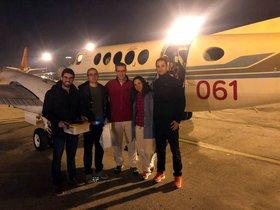 El equipo de cinco médicos del Hospital Vall d'Hebron, de Barcelona.
