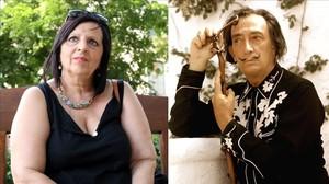 Pilar Abel y su supuesto padre, Salvador Dalí.
