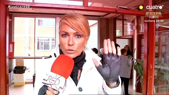 La abogada Montse Suárez en Barcelona, el 9-N, en un momento del programa 'En la red', de Cuatro.