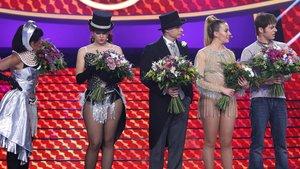 Los cinco finalistas de 'Tu cara me suena'.