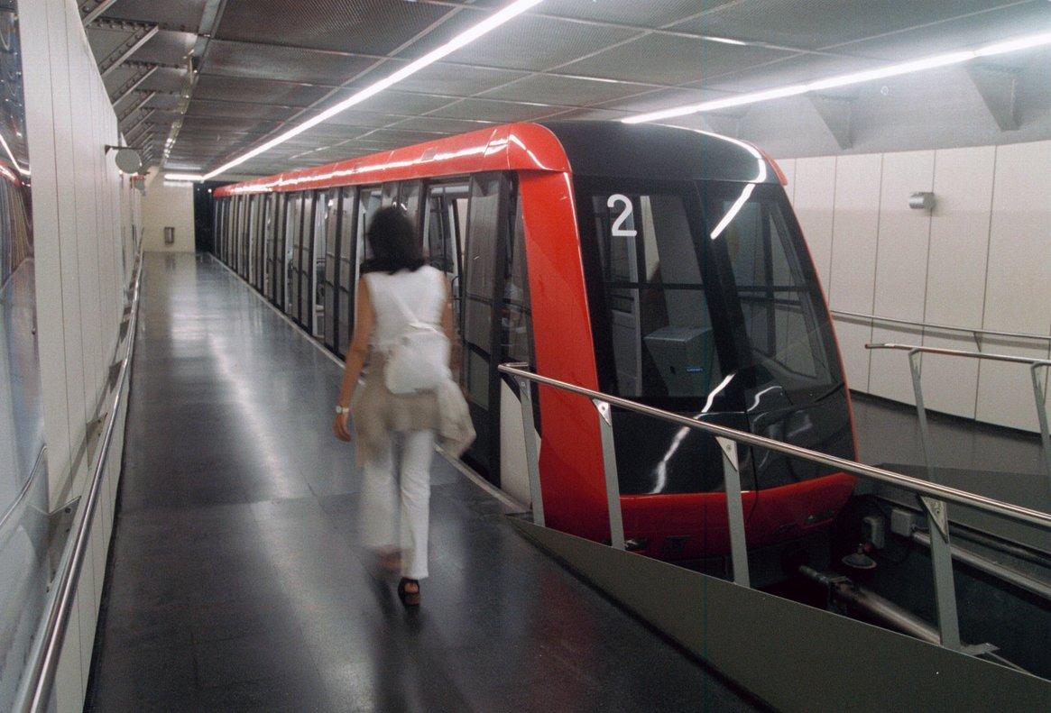 El funicular de Montjuïc.
