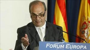Gay de Montellà, durant la seva intervenció al Fórum Europa.