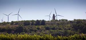 Generadores eólicos instalados en el municipio de Villalba dels Arcs, en la Terra Alta.