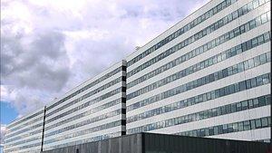 Hospital Universitario Central de Asturias, donde ha sido trasladada una mujer apuñalada presuntamente por su expareja.