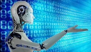 Imagen de archivo de un robot con inteligencia artificial.