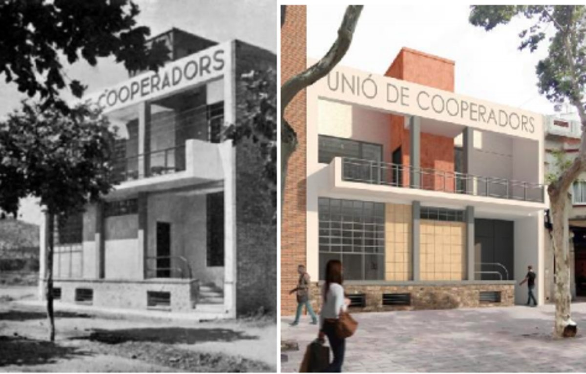 Imagen prevista de la Unió de Cooperadors de Gavà tras las remodelación