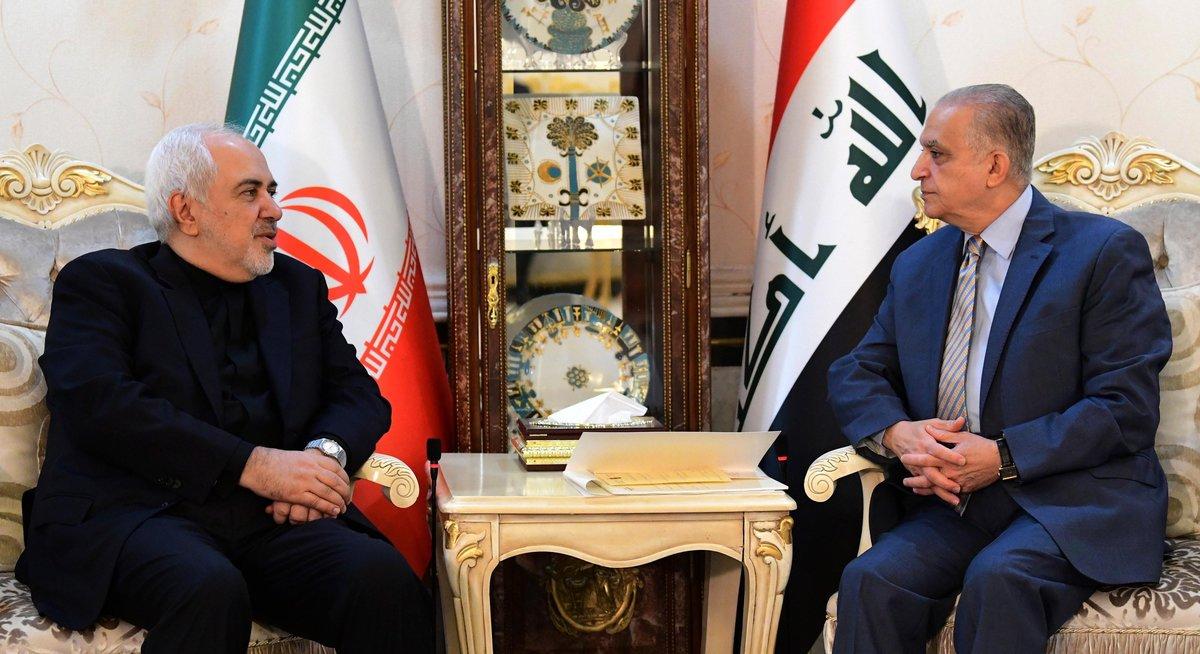 Los ministros de Relaciones Exteriores de Irán e Irak en una reunión oficial. EFE