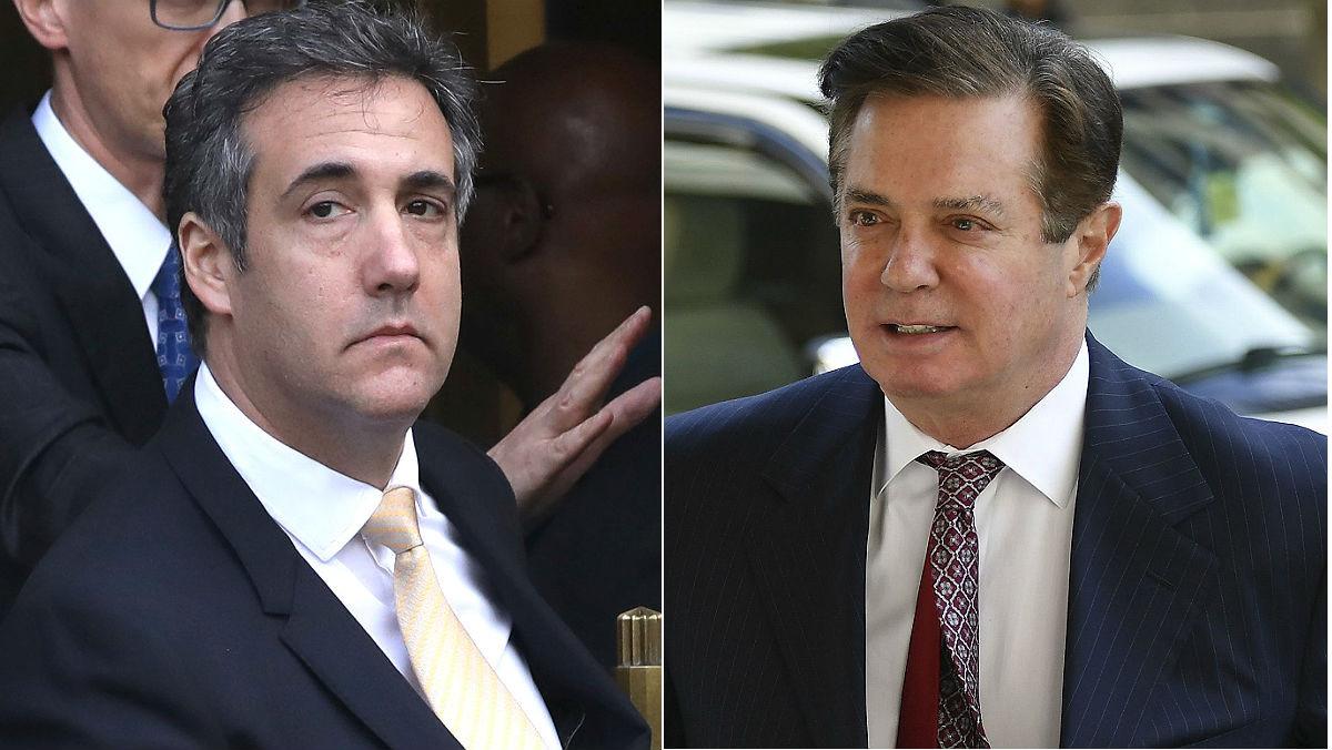 De izquierda a Derecha, Michael Cohen y Paul Manafort, exabogado y exjefe de campaña, respectivamente, del presidente de EEUU Donald Trump.