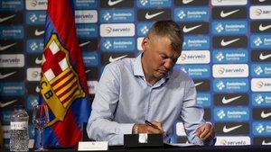 Jasikevicius firma el contrato que le unirá al Barça durante tres temporadas