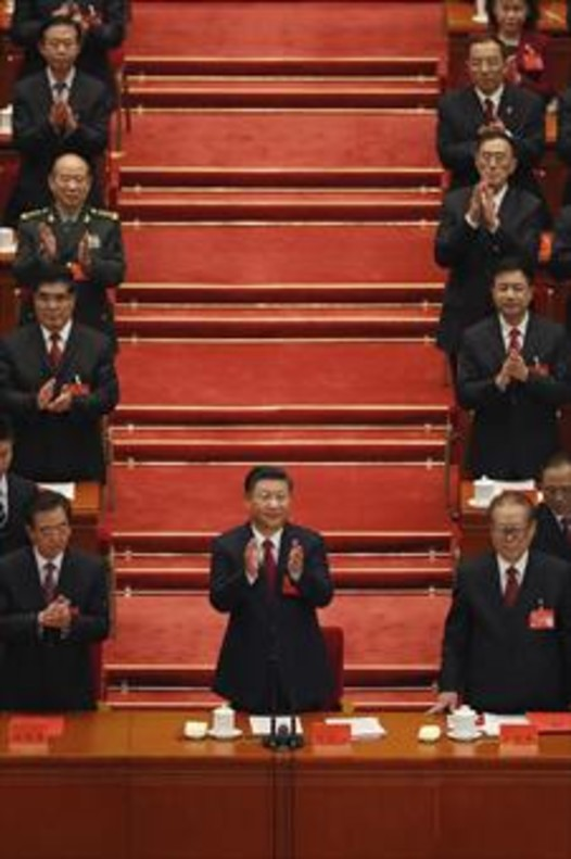 Xi Jinping, durante la clausura congreso del Partido Comunista chino.