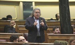 Joan Tardà, en una sesión de control del Gobierno en el 2018.